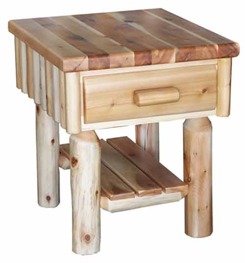 Amish Made Rustic End Table