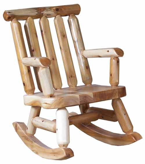 Amish Made Rustic Child's Rocker