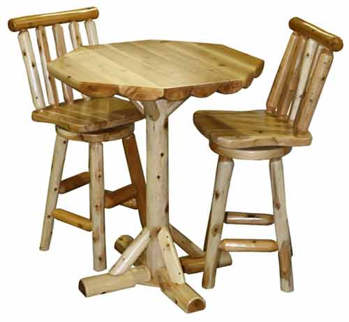 Amish Made Rustic Swivel Stool