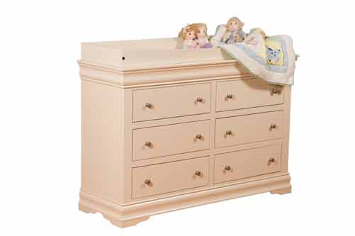 Amish Shaker Youth Changing Table for Dresser