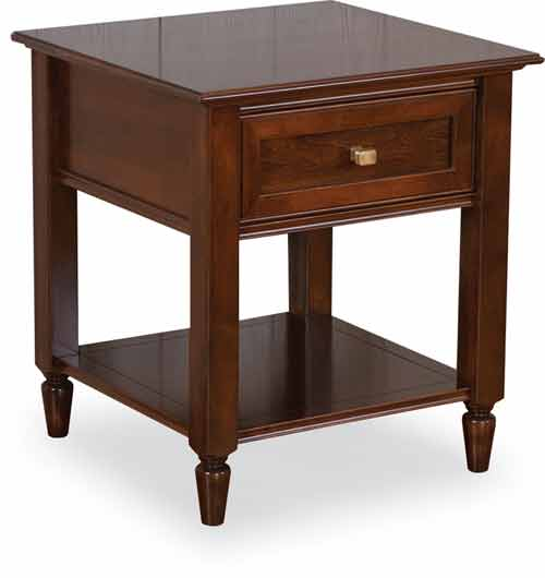 Amish Stone Briar End Table