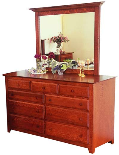 Amish New England Shaker Bedroom Dresser