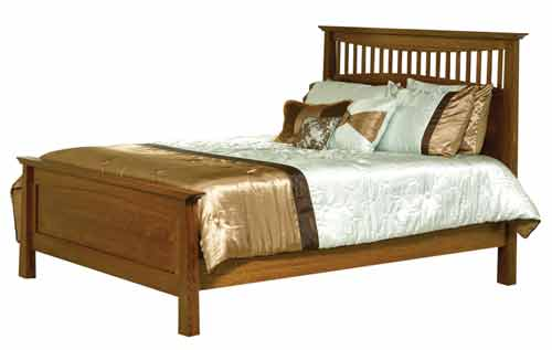 Amish Bow Mission Bed